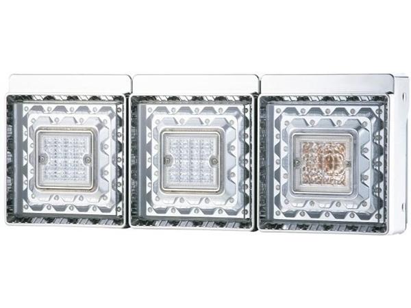 JB 角型LEDテールランプ 3連 LEDバックランプ付
