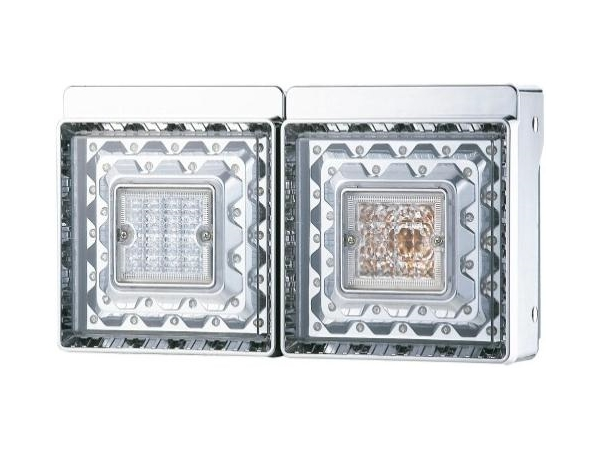JB 角型LEDテールランプ 2連 LEDバックランプ付